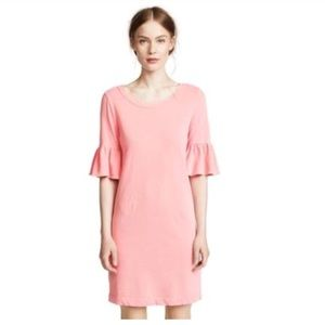 Splendid 3/4 Ruffle Sleeve Cotton Dress